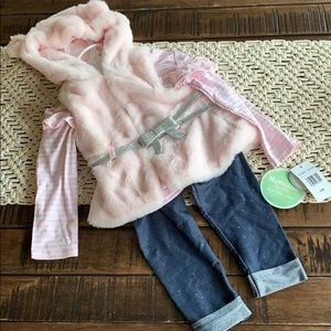 Nannette Baby 3 piece baby girl outfit NWT